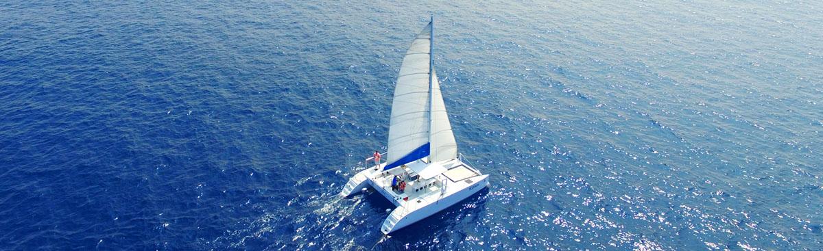 Private catamaran charter Big Island private boat charters Kona Hawaii