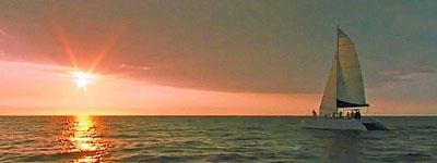 Kona private catamaran charter sunset cruise