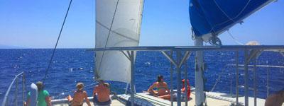 4 hour private catamaran charter Big Island
