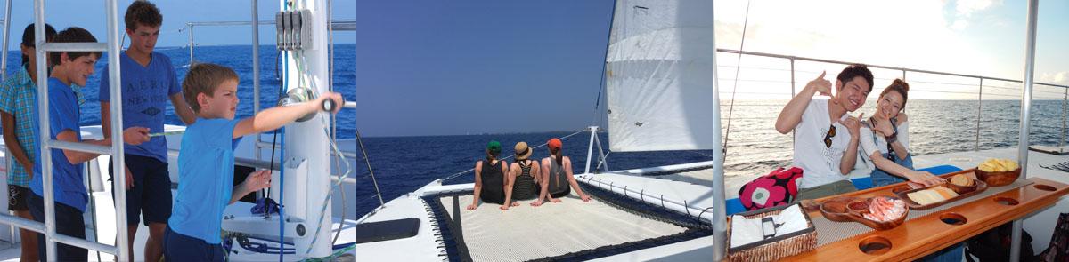 private boat charters sailing catamaran