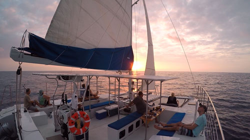 Kona sunset sail